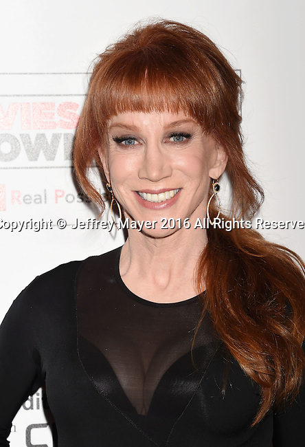 BEVERLY HILLS, CA - FEBRUARY 08:  Actress/comedienne/host Kathy Griffin attends AARP's Movie For GrownUps Awards at the Regent Beverly Wilshire Four Seasons Hotel on February 8, 2016 in Beverly Hills, California.