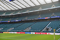 A general view of LED billboards alongside the pitch. The Clash, Aviva Premiership match, between Bath Rugby and Leicester Tigers on April 8, 2017 at Twickenham Stadium in London, England. Photo by: Patrick Khachfe / Onside Images