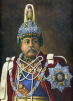 BNPS.co.uk (01202 558833)<br /> Pic: Bonhams/BNPS<br /> <br /> Keen motorist - Maharajah Juddha Shamsher Jang Bahadur - His kingdom only had 2 miles of road when the Crossley arrived across the Himalayas from Calcutta.<br /> <br /> A Maharaja's motor which was carried hundreds of miles across the Himalayas to him has emerged for sale for £40,000.<br /> <br /> The 1926 Crossley's first owner was Maharaja Juddha Shamsher Jang Bahadur Rana, who had it shipped out from the manufacturer's Manchester factory to exotic Calcutta in India.<br /> <br /> Since there was only two miles of road which could be driven in Nepal, the classic car was carried over the mountainous landscape by his unfortunate porters.<br /> <br /> It was used by successive Rana family rulers, who styled themselves as 'heriditary Prime Ministers of Nepal', before leaving the country in 1968, finding a new home in Salt Lake City, US.<br /> <br /> This burgundy model, the 20.9HP Canberra Landaulette, is believed to be the only surviving example of its type in the world. It is going under the hammer with auction house Bonhams, of London.