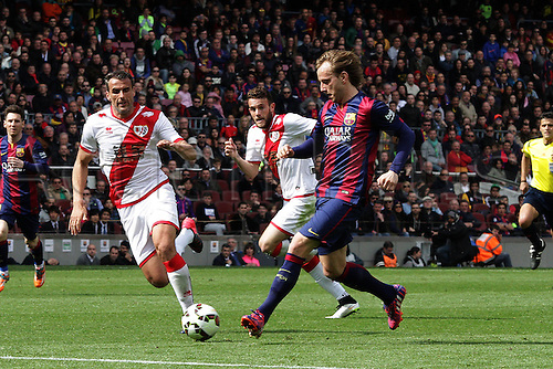 08.03.2015.  Barcelona, Spain. La Liga Football. Barcelona versus Rayo Vallecano. Rakitic in action during the match