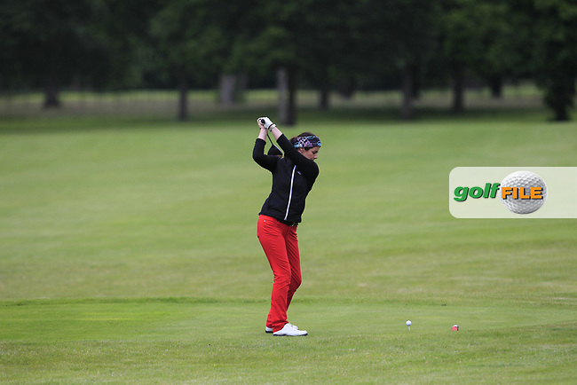 Hazel Kavanagh (Car Golf Centre at Spawell) on the 5th fairway during Round 1 of the Titleist &amp; Footjoy PGA Professional Championship at Luttrellstown Castle Golf &amp; Country Club on Tuesday 13th June 2017.<br /> Photo: Golffile / Thos Caffrey.<br /> <br /> All photo usage must carry mandatory copyright credit     (&copy; Golffile | Thos Caffrey)