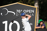 Matt Wallace (ENG) in action on the 10th hole during the third round of the 76 Open D'Italia, Olgiata Golf Club, Rome, Rome, Italy. 12/10/19.<br /> Picture Stefano Di Maria / Golffile.ie<br /> <br /> All photo usage must carry mandatory copyright credit (© Golffile | Stefano Di Maria)