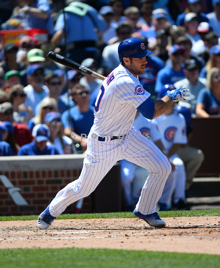 Chicago Cubs Matt Szczur (20) during a game against the Pittsburgh Pirates on June 17, 2016 at Wrigley Field in Chicago, IL. The Cubs beat the Pirates 6-0.