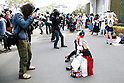 "Cosplayers pose for photographers during Anime Japan 2015 on March 21, 2015 in Tokyo, Japan. Anime Japan 2015 brings together all aspects of the ""anime"" industry offering an opportunity for visitors get close to creators, voice actors, idol groups, and cosplayers, and to learn about the industry. This is the second year that the exhibition is being held at Tokyo Big Sight. Organizers estimated that approximately 100,000 visitors attended in 2014 and similar huge numbers are expected this year. The exhibition is open on March 21st and 22nd. (Photo by Rodrigo Reyes Marin/AFLO)"