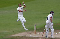Stuart Broad of Nottinghamshire in bowling action during Nottinghamshire CCC vs Essex CCC, Specsavers County Championship Division 1 Cricket at Trent Bridge on 1st July 2019