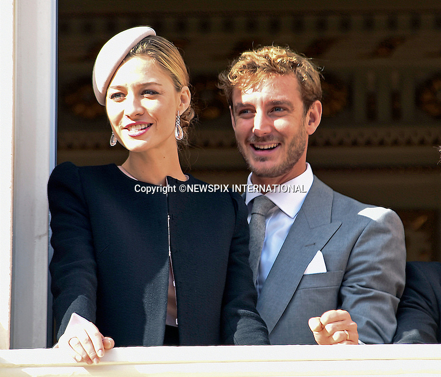 19.11.2015; Monte Carlo, Monaco: BEATRICE BORREMEO AND HUSBAND PIERRE CASIRAGHI <br /> view proceedings from the balcony of the Palais Princier on Monaco&rsquo;s National Day<br /> Mandatory Photo Credit: &copy;NEWSPIX INTERNATIONAL<br /> <br /> **ALL FEES PAYABLE TO: &quot;NEWSPIX INTERNATIONAL&quot;**<br /> <br /> PHOTO CREDIT MANDATORY!!: NEWSPIX INTERNATIONAL(Failure to credit will incur a surcharge of 100% of reproduction fees)<br /> <br /> IMMEDIATE CONFIRMATION OF USAGE REQUIRED:<br /> Newspix International, 31 Chinnery Hill, Bishop's Stortford, ENGLAND CM23 3PS<br /> Tel:+441279 324672  ; Fax: +441279656877<br /> Mobile:  0777568 1153<br /> e-mail: info@newspixinternational.co.uk