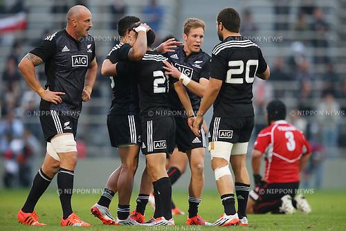 Maori All Blacks team group (Maori All Blacks),<br /> NOVEMBER 8, 2014 - Rugby : <br /> International rugby friendly match <br /> between Japan XV 18-20 Maori All Blacks <br /> at Chichibunomiya Rugby Stadium, Tokyo, Japan. <br /> (Photo by Shingo Ito/AFLO SPORT) [1195]