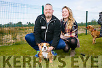 Wayne Robinson and Amy Lee Robinson with Bailey. at the Dog Show and Fun Day fundraiser for Irish Guide Dogs at the John Mitchels sports complex on Saturday
