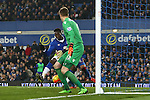 Romelu Lukaku of Everton scores his sides first goal - Everton vs Crystal Palace - Barclays Premier League - Goodison Park - Liverpool - 07/12/2015 Pic Philip Oldham/SportImage