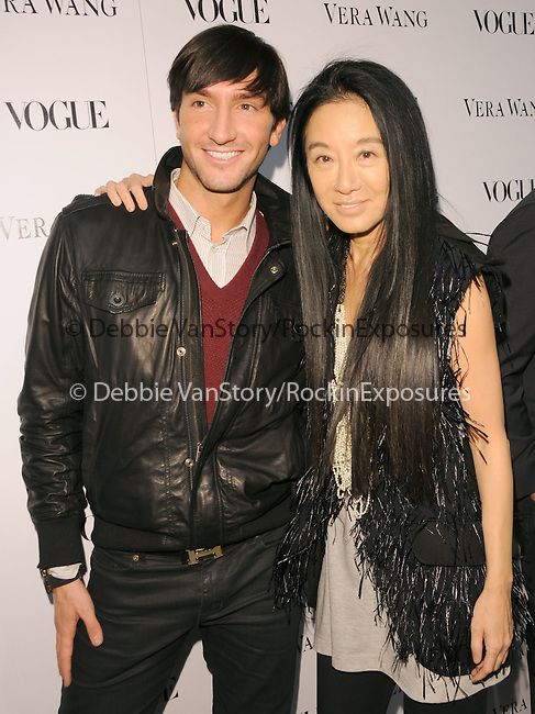 Evan Lysacek & Vera Wang  at the Vogue Dinner honoring Vera Wang Celebration of Vera Wang on Melrose Opening in in West Hollywood, California on March 02,2010                                                                   Copyright 2009  DVS / RockinExposures..