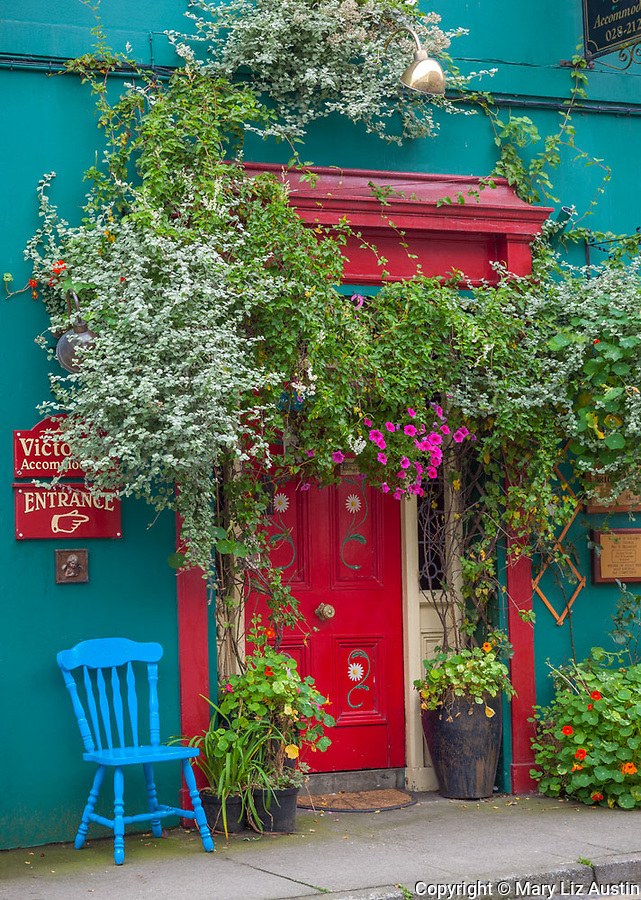 County Cork, Ireland: Colorful facade of the Bridge House Bed and Breakfast, in the village of Skibbereen