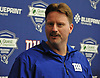 Ben McAdoo, New York Giants Head Coach, speaks to the media during the first day of team Rookie Camp at Quest Diagnostics Training Center in East Rutherford, NJ on Friday, May 12, 2017.