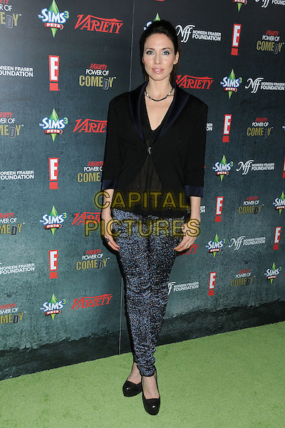 Whitney Cummings.Variety's 2nd Annual Power of Comedy Event held at the Hollywood Palladium, Hollywood, California, USA, .19th November 2011..full length black top shirt  shoes  blue leggings sparkly .CAP/ADM/BP.©Byron Purvis/AdMedia/Capital Pictures.