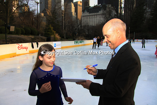 US Figure Skater Scott Hamilton (Olympic Gold Medalist) - The 2013 Skating with the Stars- a benefit gala for Figure Skating in Harlem on April 8, 2013 at Trump Wollman Rink, New York City, New York. (Photo by Sue Coflin/Max Photos)