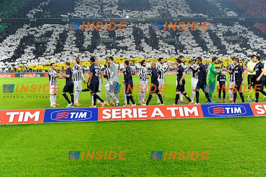 Coreografia tifosi Juventus<br /> Torino 02-02-2014 Juventus Stadium - Football 2013/2014 Serie A. Juventus - Inter Foto Giuseppe Celeste / Insidefoto