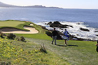 Jon Rahm (ESP) walks to the 7th green during Sunday's Final Round of the 2018 AT&amp;T Pebble Beach Pro-Am, held on Pebble Beach Golf Course, Monterey,  California, USA. 11th February 2018.<br /> Picture: Eoin Clarke | Golffile<br /> <br /> <br /> All photos usage must carry mandatory copyright credit (&copy; Golffile | Eoin Clarke)