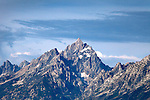The majestic Grand Teton (13,770 feet or 4,107 meters) in the Tetons Range, Grand Teton National Park, Wyoming, USA