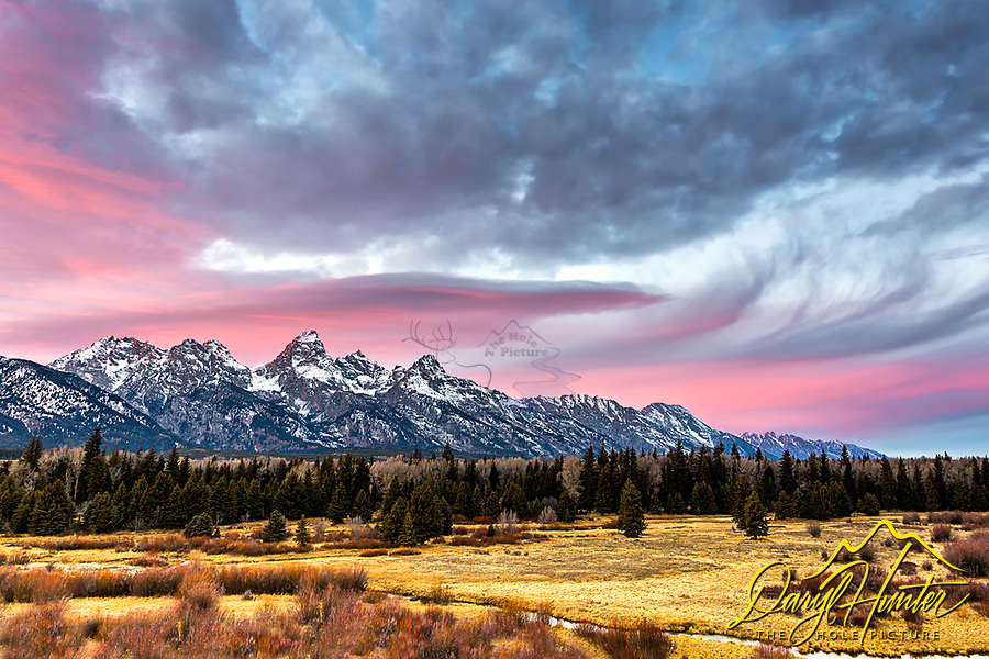 A pretty evening in Grand Teton Natonal Park. Moments like this are just that &quot;moments&quot;, sadly they don't last long; however, that gives greater appreciation of them<br />