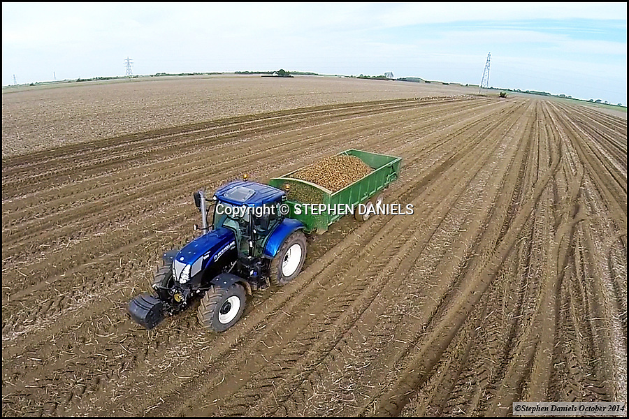 Photo by &copy;Stephen Daniels  22/10/2014<br /> New Holland Tractor, Fosdyke, Lincolnshire