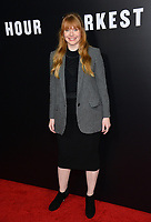 Bryce Dallas Howard at the premiere for &quot;Darkest Hour&quot; at the Samuel Goldwyn Theatre at The Motion Picture Academy. Beverly Hills, USA 08 November  2017<br /> Picture: Paul Smith/Featureflash/SilverHub 0208 004 5359 sales@silverhubmedia.com