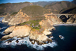 USA. California. Big Sur.  Bixby Bridge connects the divide on the sweeping coastline of Highway 1.