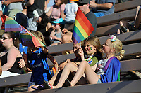 Seattle, WA - Saturday June 24, 2017: Fans during a regular season National Women's Soccer League (NWSL) match between the Seattle Reign FC and FC Kansas City at Memorial Stadium.