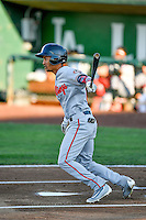 Jose Siri (61) of the Billings Mustangs at bat against the Ogden Raptors in Pioneer League action at Lindquist Field on August 12, 2016 in Ogden, Utah. Billings defeated Ogden 7-6. (Stephen Smith/Four Seam Images)