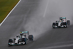 (L to R) Nico Rosberg, Lewis Hamilton (Mercedes AMG), <br /> OCTOBER 5, 2014 - F1 : Japanese Formula One Grand Prix at Suzuka Circuit in Suzuka, Japan. (Photo by AFLO SPORT) [1180] GERMANY OUT