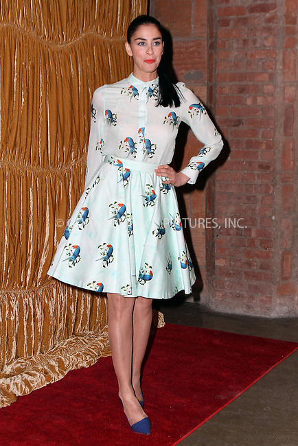 WWW.ACEPIXS.COM<br /> <br /> February 16, 2015 New York City<br /> <br /> Sarah Silverman at the alice + olivia by Stacey Bendet fashion presentation on February 16, 2015 in New York City. <br /> <br /> By Line: Nancy Rivera/ACE Pictures<br /> <br /> <br /> ACE Pictures, Inc.<br /> tel: 646 769 0430<br /> Email: info@acepixs.com<br /> www.acepixs.com