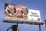 Chevcrn billboard in Los Angeles circa 1967