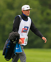 Caddy for Julian Suri (USA) on the 5th fairway during Round 3 of the D+D Real Czech Masters at the Albatross Golf Resort, Prague, Czech Rep. 02/09/2017<br /> Picture: Golffile | Thos Caffrey<br /> <br /> <br /> All photo usage must carry mandatory copyright credit     (&copy; Golffile | Thos Caffrey)