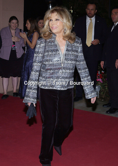 Nancy Sinatra arriving at Clive Davis' Legendary Pre-Grammy Gala at the Beverly Hills Hotel in Los Angeles February 7, 2004