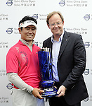 SUZHOU, CHINA - APRIL 18:  Y.E. Yang (L)  of Korea poses with Per Ericsson President & CEO of Volvo Event Managment after winning the Volvo China Open on April 18, 2010 in Suzhou, China. Photo by Victor Fraile / The Power of Sport Images