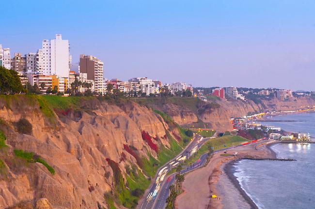 Lima, Peru, Pacific Cliffs, Costa Verde, Miraflores District