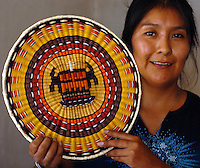 HOPI Shifter Baskets n Parched Corn, wicker basket, Piki bread, Drum, Kilts and Sash are but a fraction of the arts and crafts found at the home of Annetta Korah or her mother Ruby Chimerica.