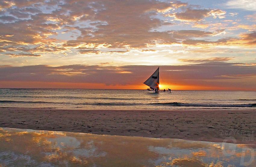 BORACAY Island Sunset and Sailboat
