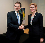 Brussels-Belgium - January 30, 2012 -- Prior to the extraordinary European Council, EU-summit; here, Mariano RAJOY BREY (le), Prime Minister of Spain, and Helle THORNING-SCHMIDT (ri), Prime Minister of Denmark, during their bilateral meeting  -- Photo: © HorstWagner.eu