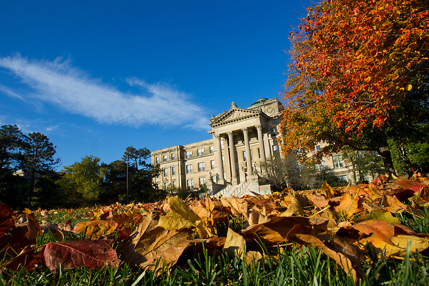 Bearshear Hall during Fall on the campus of Iowa State University in Ames, Iowa. (Christopher Gannon/Gannon Visuals)