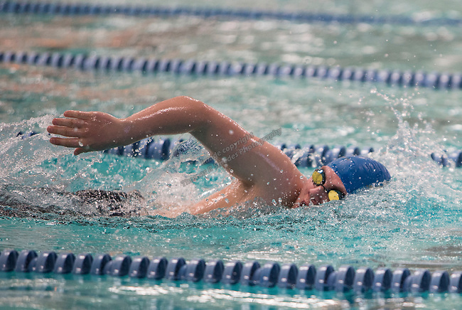South Tahoe's Tristan Klasko competes in the boys 3A 500 yard freestyle race during the State Swimming Meet in Carson City on Saturday, May 20, 2017.