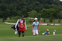 Jennifer Song (USA) in action on the 9th during Round 1 of the HSBC Womens Champions 2018 at Sentosa Golf Club on the Thursday 1st March 2018.<br /> Picture:  Thos Caffrey / www.golffile.ie<br /> <br /> All photo usage must carry mandatory copyright credit (&copy; Golffile | Thos Caffrey)