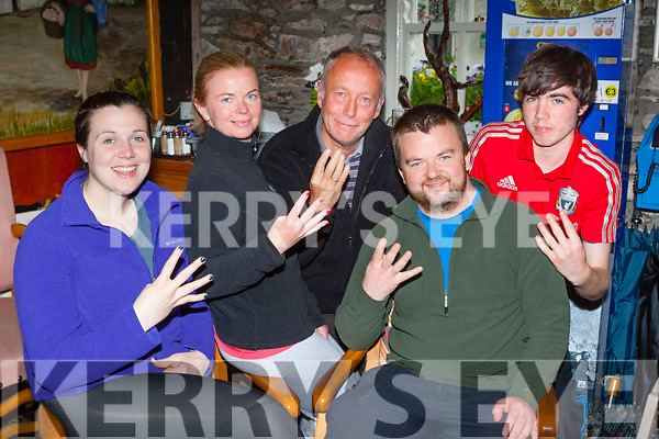 Ballyduff climbers Mags Gaynor, Michelle Griffin, Mark K Allen, Kevin McGuire and Eanna McMahon who will be attempting the four peaks challenge next month