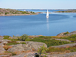 Sailboats in Archipelago off Kökar, Åland, Finland