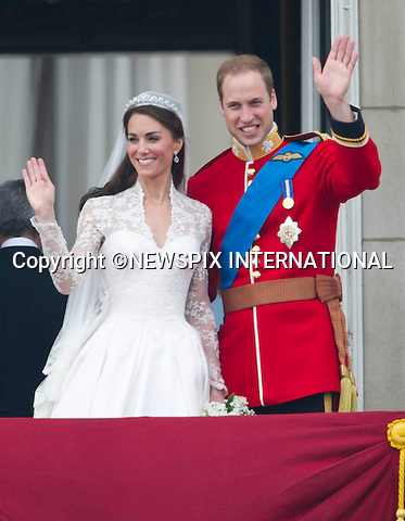 """THE KISS.THE ROYAL WEDDING.Prince William and Catherine Middleton delight the crowds with a kiss..The Newly married coupleThe Duke and Duchess of Cambridge take in the splendor of the crowds from the balcony of Buckingham Palace..Prince William and Catherine Middleton marry at Westminster Abbey..The Duke and Duchess of Cambridge London_29/04/2011.Mandatory Photo Credit: ©Dias/Newspix International..**ALL FEES PAYABLE TO: """"NEWSPIX INTERNATIONAL""""**..PHOTO CREDIT MANDATORY!!: NEWSPIX INTERNATIONAL(Failure to credit will incur a surcharge of 100% of reproduction fees)..IMMEDIATE CONFIRMATION OF USAGE REQUIRED:.Newspix International, 31 Chinnery Hill, Bishop's Stortford, ENGLAND CM23 3PS.Tel:+441279 324672  ; Fax: +441279656877.Mobile:  0777568 1153.e-mail: info@newspixinternational.co.uk"""
