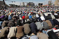 Friday prayers at Tahrir square.