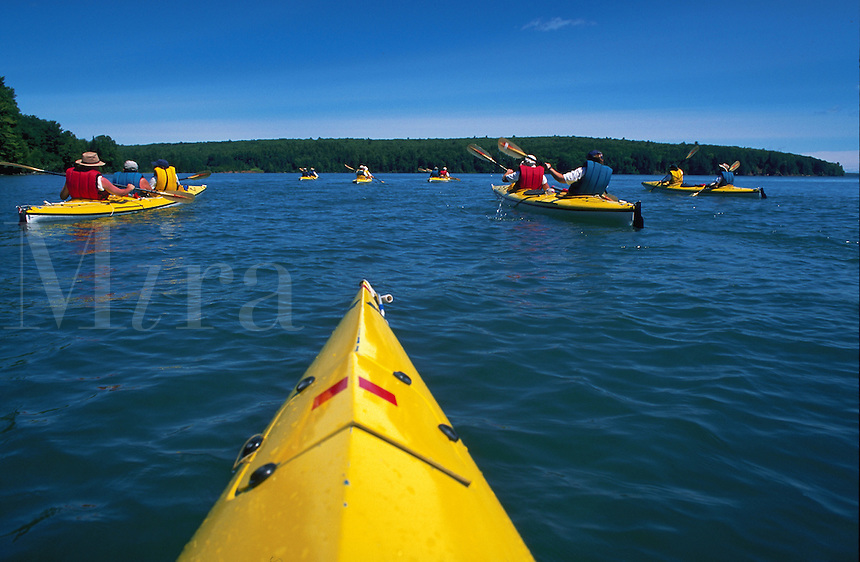 Kayaking Lake Superior's Apostle Island National Lakeshore near Ashland, Wisconsin
