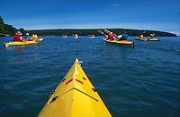 Kayaking Lake Superior's Apostle Island National Lakeshore near Ashland, Wisconsin