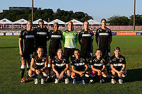 Western New York Flash starting eleven. The Western New York Flash defeated Sky Blue FC 4-1 during a Women's Professional Soccer (WPS) match at Yurcak Field in Piscataway, NJ, on July 30, 2011.