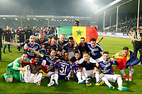 Joie players of Anderlecht celebrate winning the championship after the Jupiler Pro League play-off 1 match  - Champion  RSC Anderlecht <br /> Saison 2016 2017 <br /> Anderlecht Campione del Belgio <br /> Jupiter League 20162017 <br /> Foto PhotoNews/Panoramic/Insidefoto<br /> ITALY ONLY