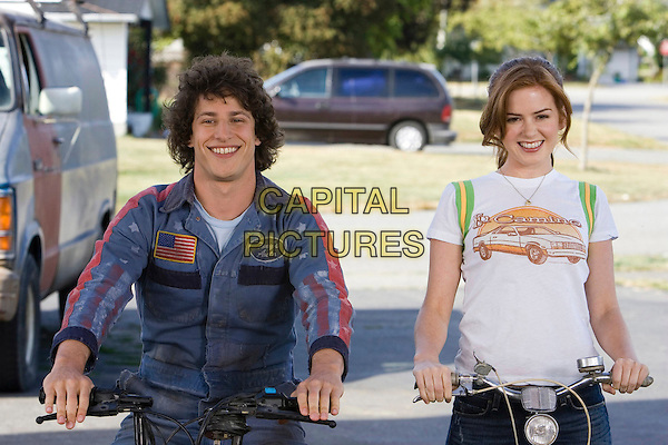 ANDY SAMBERG & ISLA FISHER.in Hot Rod .**Editorial Use Only**.CAP/FB.Supplied by Capital Pictures