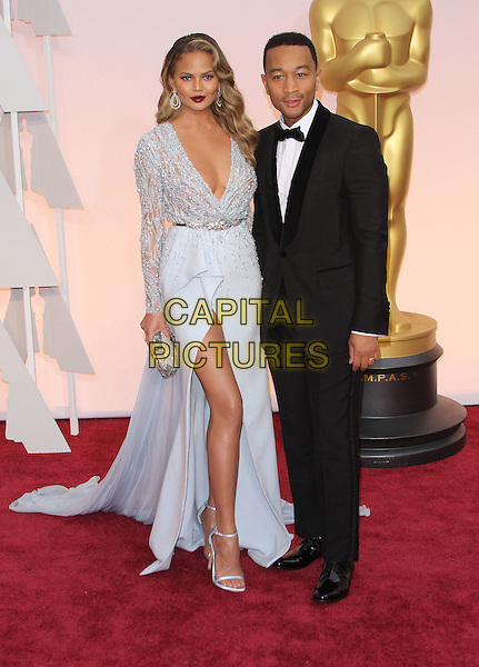 22 February 2015 - Hollywood, California - Chrissy Teigen, John Legend. 87th Annual Academy Awards presented by the Academy of Motion Picture Arts and Sciences held at the Dolby Theatre. <br /> CAP/ADM<br /> &copy;AdMedia/Capital Pictures Oscars